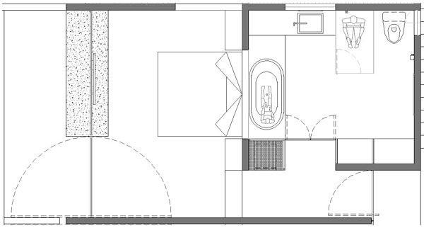 Baño Vestidor Planta: Size Tina de hidromasaje Baño completo con vestidor Terraza propia